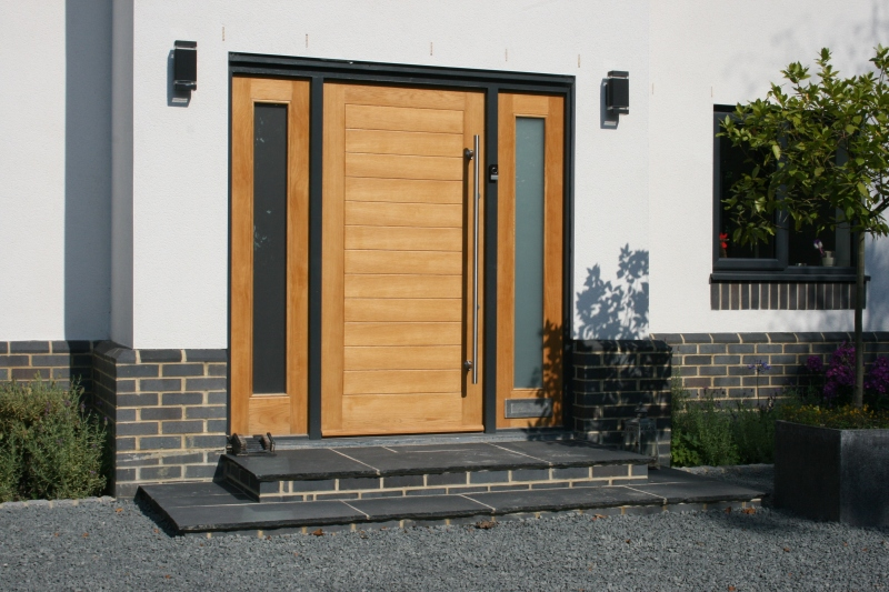 Contemporary timber front door