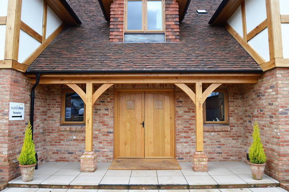 Traditional Style Timber Frame House