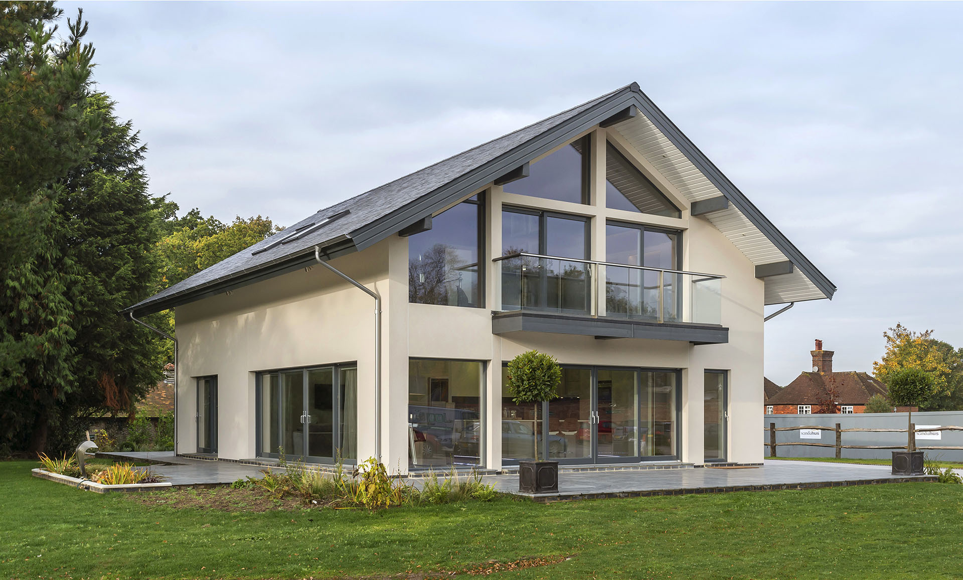 Scandia hus adelia timber frame contemporary design for Modern house designs uk
