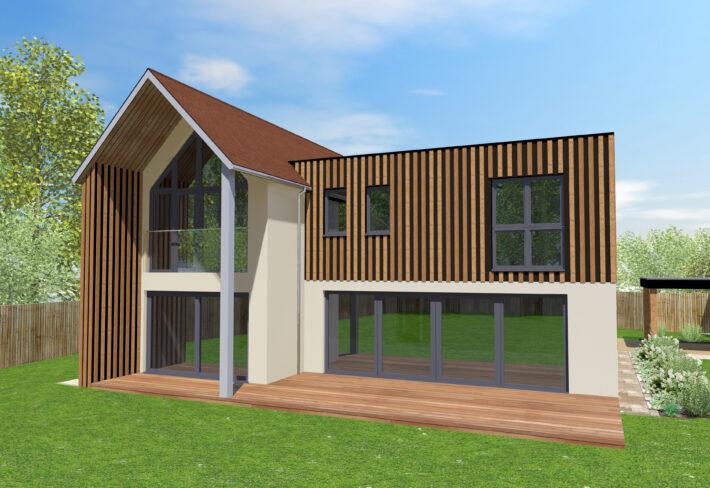 Contemporary Timber Frame Home