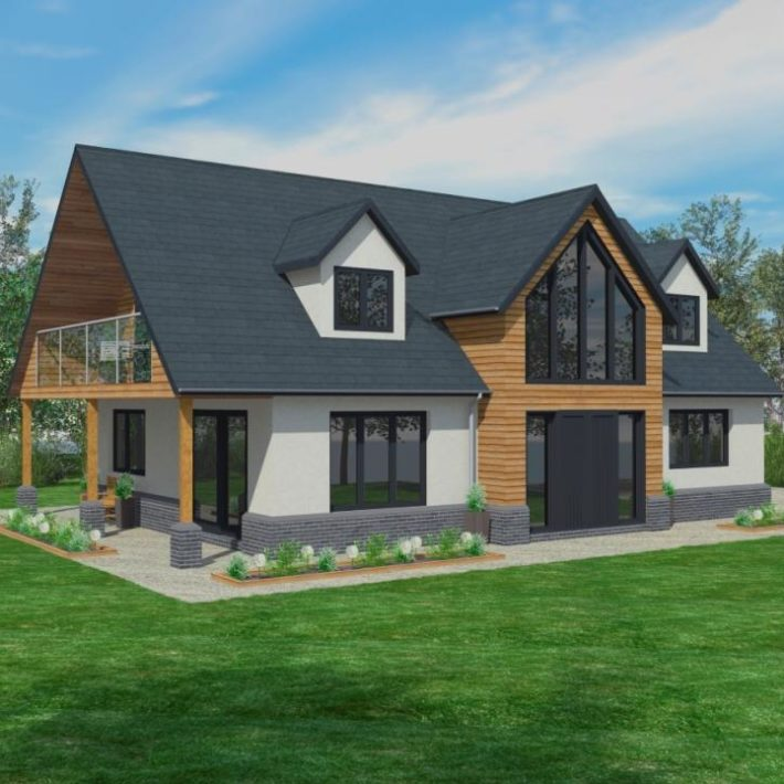 Timber frame self build homes from scandia hus for Kit build homes