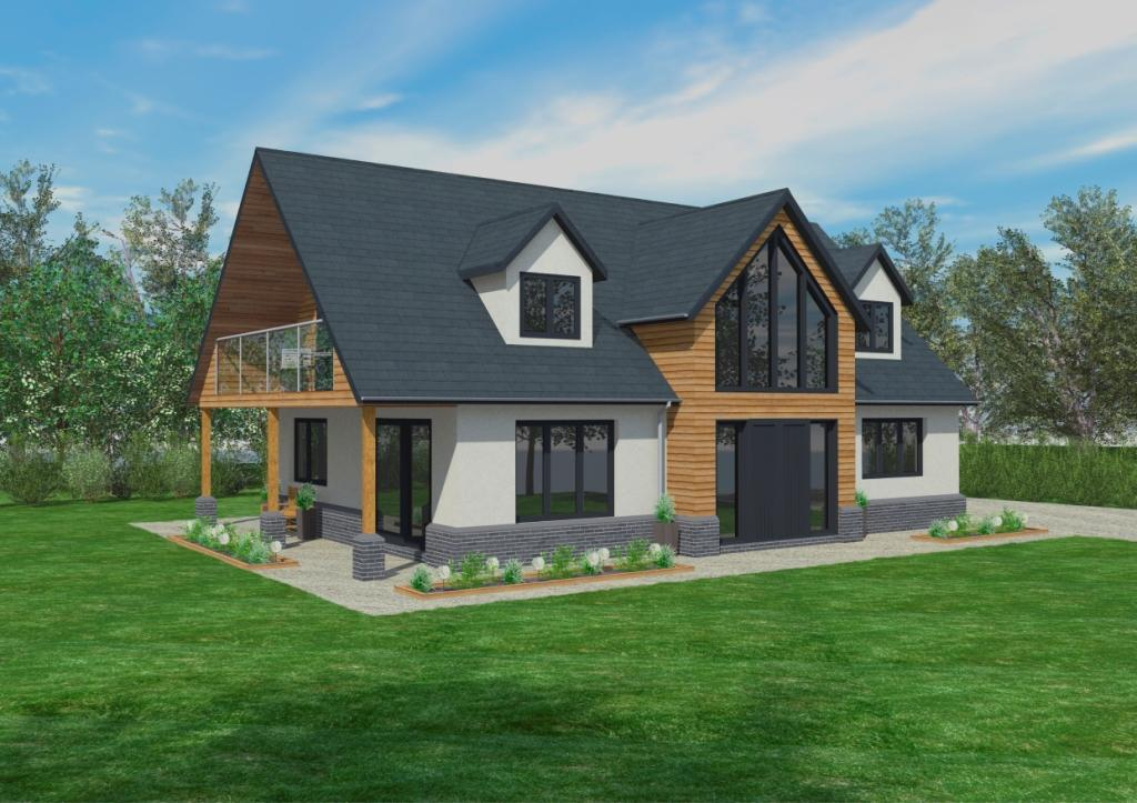 The cranbrook timber framed home designs scandia hus for Modern house designs uk