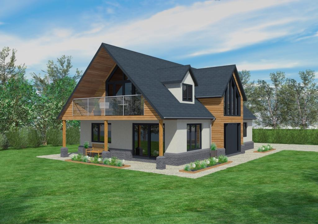 The cranbrook timber framed home designs scandia hus for Chalet bungalow designs