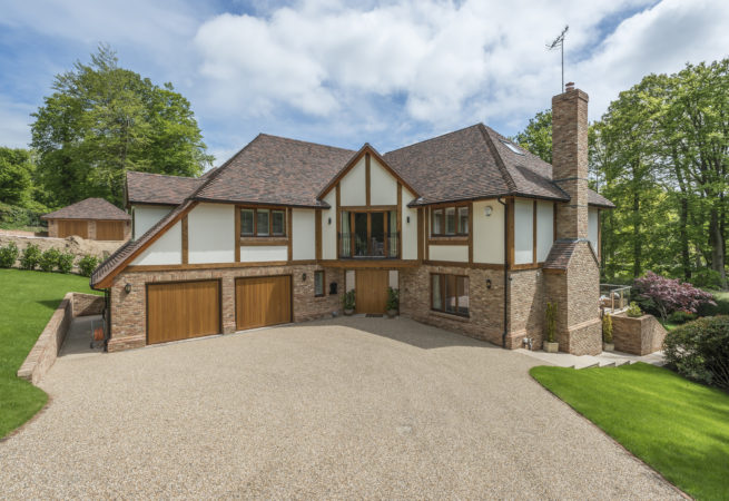 traditional style timber frame home