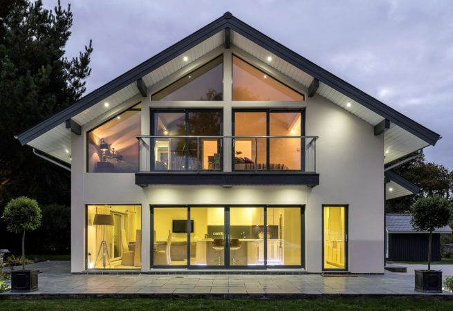 Contemporary Timber Frame Self Build home