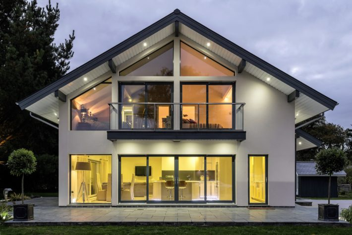 Contemporary Timber Frame Self Build home 1 1 710x474 - Get Modern 3 Bedroom House Plans Uk Pics
