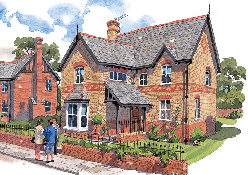 Scandia hus the gables timber frame traditional design for Traditional house designs uk