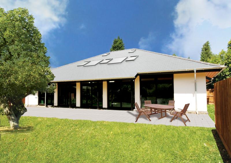scandia hus the hickory timber frame contemporary design. Black Bedroom Furniture Sets. Home Design Ideas