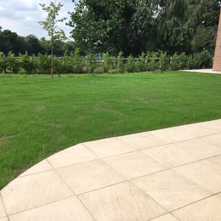 Patioand grass