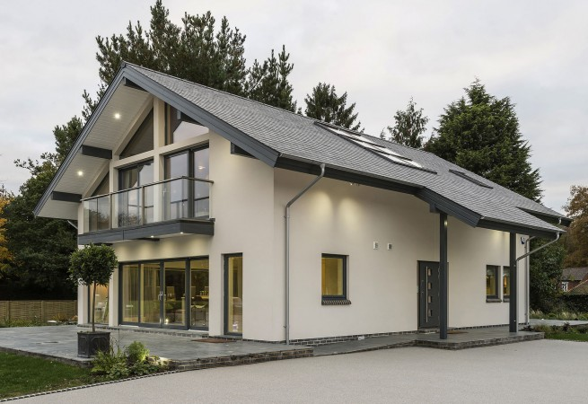 Contemporary timber framed home designs scandia hus for Modern house designs uk