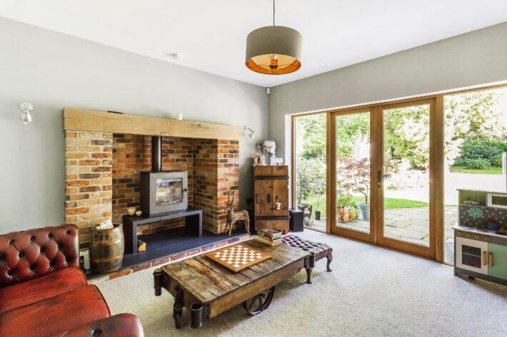 Sitting Room with Log Burner